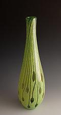 Carved Bottle 18 by Richard S. Jones (Art Glass Vase)