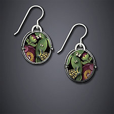 Under the Leaves Earrings by Dawn Estrin (Silver Earrings)