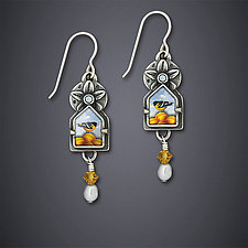 Oriole Sky Earrings by Dawn Estrin (Silver Earrings)