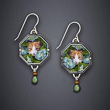 Morning Glory Earrings by Dawn Estrin (Silver Earrings)