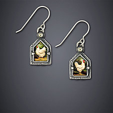 Backyard Birds Earrings by Dawn Estrin (Silver Earrings)