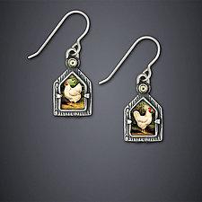 Backyard Birds Earrings by Dawn Estrin (Silver Earrings)