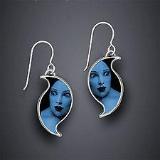 Blue Valentine Earrings by Dawn Estrin (Silver Earrings)