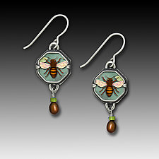 Honeybee Babies Earrings by Dawn Estrin (Silver Earrings)