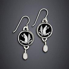 White Squirrel Earrings by Dawn Estrin (Silver Earrings)