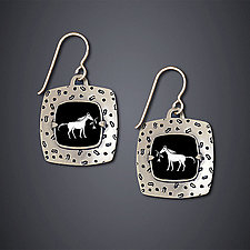 Spring Foal Earrings by Dawn Estrin (Silver Earrings)