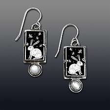 Bunny Earrings by Dawn Estrin (Silver & Stone Earrings)