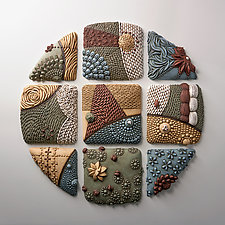 Circle Prism by Christopher Gryder (Ceramic Wall Sculpture)