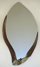 Spring Leaf by Jan Jacque (Ceramic Mirror)