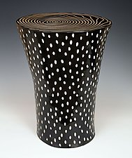Black and White Table by Larry Halvorsen (Ceramic End Tables)