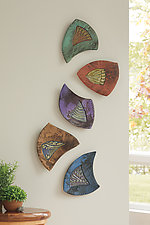 Acorn Jumble by Jan Jacque (Ceramic Wall Sculpture)