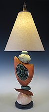 Stone Frolic by Jan Jacque (Ceramic Table Lamp)