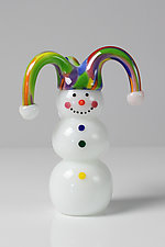 Snowmen by Thomas Kelly (Art Glass Paperweight)