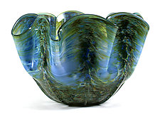 Scalloped Bowl by Thomas Kelly (Art Glass Bowl)