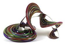 Heechee Probe on Clear Spine by Thomas Kelly (Art Glass Sculpture)