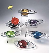 Ikebana Vase by David New-Small (Art Glass Vases)