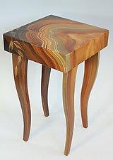 Burl Vine Side Table by Ingela Noren and Daniel  Grant (Wood Side Table)