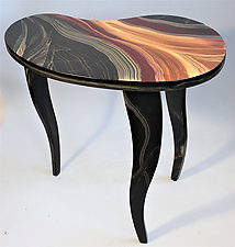 Bean Shaped Side Table by Ingela Noren and Daniel  Grant (Wood Side Table)