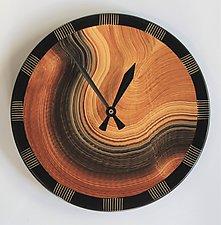 Burl Comb Wall Clock by Ingela Noren and Daniel  Grant (Wood Wall Clock)