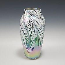 Powder Feather Vase by Mark Rosenbaum (Art Glass Vase)
