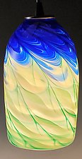 Optic Cylinder Pendant by Mark Rosenbaum (Art Glass Pendant Lamp)