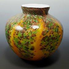 Wisteria Round by Mark Rosenbaum (Art Glass Vase)