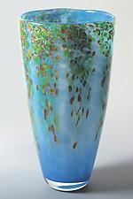 Spring Wisteria Vase by Mark Rosenbaum (Art Glass Vase)