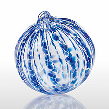 Crystal Blue Persuasion by Mark Rosenbaum (Art Glass Ornament)