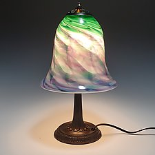 Table Lamp with Small Base by Mark Rosenbaum (Art Glass Table Lamp)