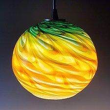 Optic Globe Pendant by Mark Rosenbaum (Art Glass Pendant Lamp)