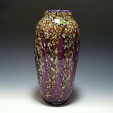 Classic Purple Wisteria Vase by Mark Rosenbaum (Art Glass Vase)