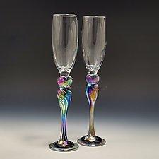 Champagne Glass by Mark Rosenbaum (Art Glass Drinkware)