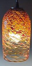 Clear Optic Cylinder Pendant by Mark Rosenbaum (Art Glass Pendant Lamp)