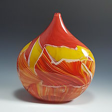 Petite Pod Transformation Vessel by Mark Rosenbaum (Art Glass Vessel)