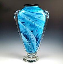 Shoulder Vase by Mark Rosenbaum (Art Glass Vase)