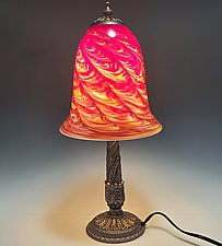 Table Lamp with Large Base by Mark Rosenbaum (Art Glass Table Lamp)