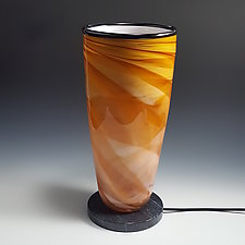 Amber Dreamscape Uplight by Mark Rosenbaum (Art Glass Table Lamp)
