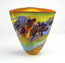 Citrus Color Field Vessel by Wes Hunting (Art Glass Vessel)