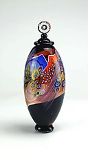 Colorfield Jar in Sunset Tones by Wes Hunting (Art Glass Jar)