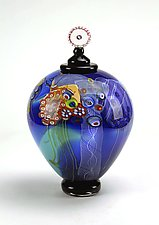 Color Field Jar in Skyline Hues by Wes Hunting (Art Glass Jar)