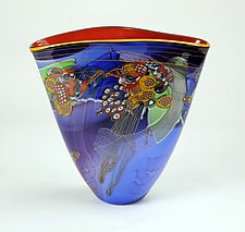 Stellar Color Field Vessel by Wes Hunting (Art Glass Vessel)