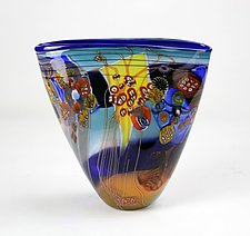 Sunrise Color Field Vessel by Wes Hunting (Art Glass Vessel)