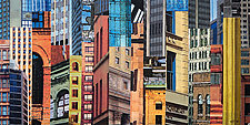 Patchwork City 20 by Marilyn Henrion (Fiber Wall Hanging)