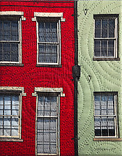 New Orleans North Peters Street by Marilyn Henrion (Fiber Wall Hanging)