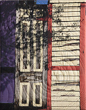 New Orleans Marigny Street 3 by Marilyn Henrion (Fiber Wall Hanging)