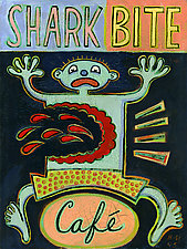 Shark Bite Cafe by Hal Mayforth (Giclee Print)