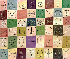Checker-Dot Time Continuum by Hal Mayforth (Giclee Print)