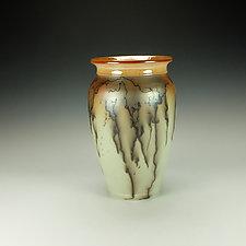 Raku Horsehair Pottery Vase by Lance Timco (Ceramic Vase)