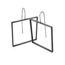 Square Slice Earrings by Emanuela Aureli (Brass Earrings)
