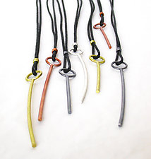 Stick Pendant Necklace by Emanuela Aureli (Metal Necklace)